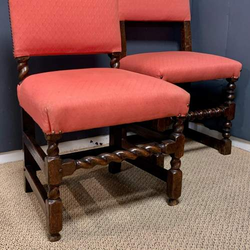 Early 18th Century Harlequin Set of Nine Oak Dining Chairs image-4