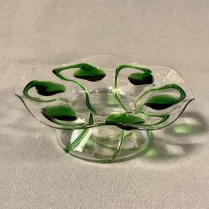 Art Nouveau Stuart and Sons Stourbridge Glass Posy Bowl