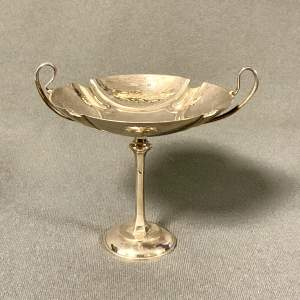 Early 20th Century Solid Silver Stem Dish