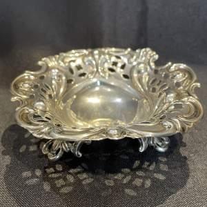 A Silver Bon Bon Dish  London 1903