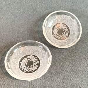Pair of 20th Century Hofmann Glass Pin Trays