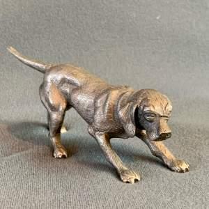 Vintage Cast Metal Hunting Dog