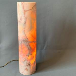 Natural Calcite Mineral Cylinder Lamp