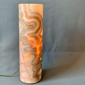 Natural Calcite Mineral Cylindrical Lamp