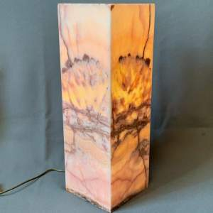 Natural Calcite Mineral Column Lamp