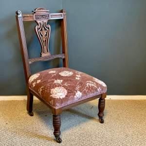 Victorian Upholstered Nursing Chair