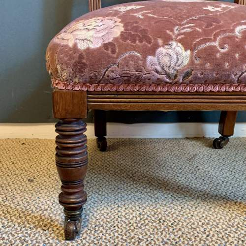 Victorian Upholstered Nursing Chair image-4