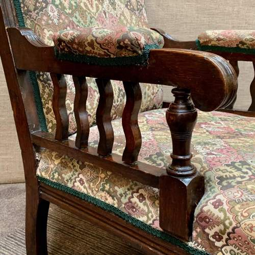 Pair of 19th Century Oak Green Man Carved Armchairs image-3