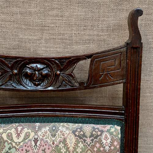 Pair of 19th Century Oak Green Man Carved Armchairs image-4