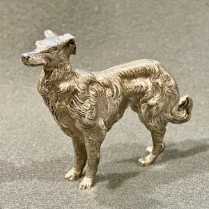 Early 20th Century Berthold Muller Silver Dog