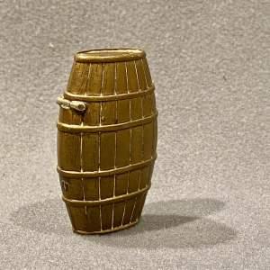 Novelty Barrel Shaped Brass Vesta Case