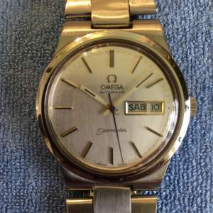 Omega Seamaster Automatic Day Date Stainless Steel Wristwatch