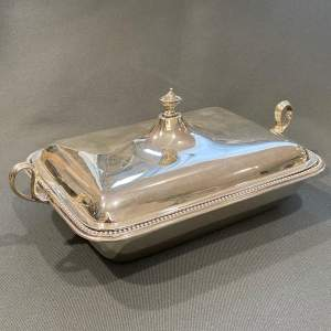 Early 20th Century Heavy Silver Entree Dish