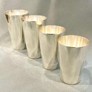 Set of Four Tiffany Silver Plate Beakers