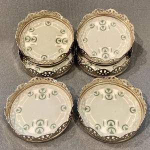 Set of Six Villeroy and Boch Ceramic Coasters