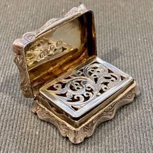 19th Century Silver Vinaigrette