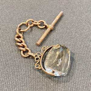 9ct Gold and Citrine Fob