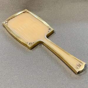 Asprey Silver Gilt Hand Mirror