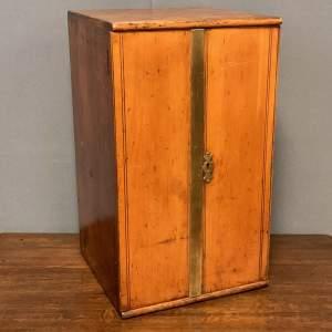 Victorian Beech Collectors Cabinet