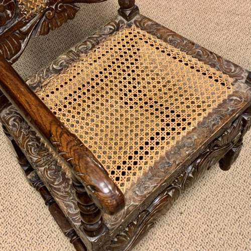 19th Century Oak and Cane Armchair image-4