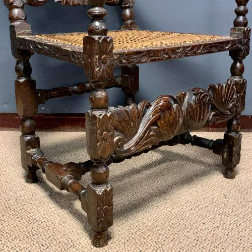 19th Century Oak and Cane Armchair image-5