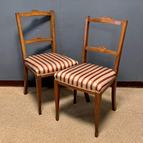 Pair of Edwardian Mahogany Side Chairs image-1