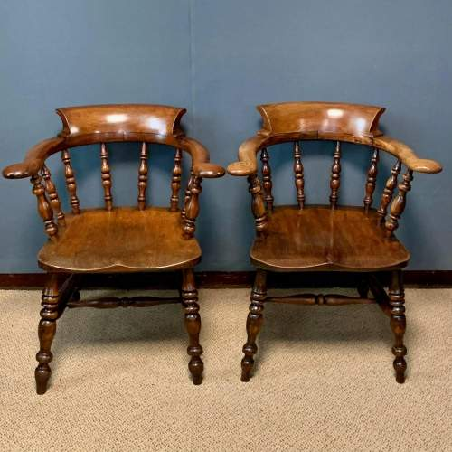Pair of 19th Century Ash and Elms Captains Chair image-2