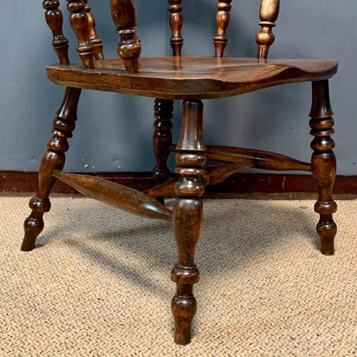 Pair of 19th Century Ash and Elms Captains Chair image-5