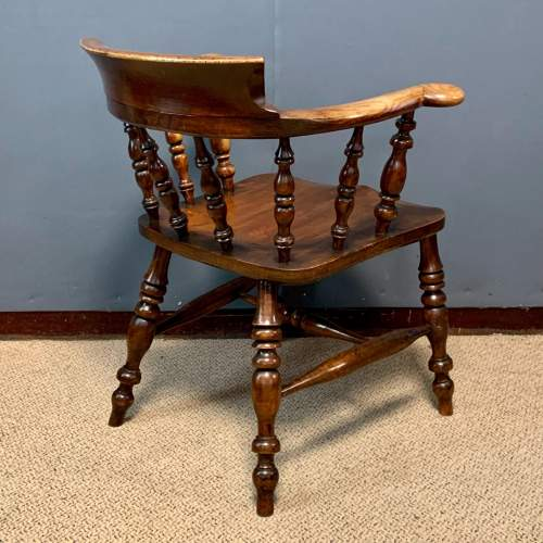 Pair of 19th Century Ash and Elms Captains Chair image-6