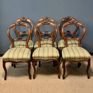 Set of Six Victorian Balloon Back Dining Chairs
