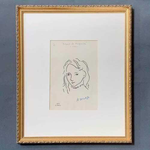 Henri Matisse Signed Print - Portrait De Marguerite image-1