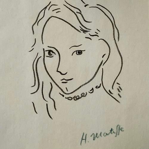 Henri Matisse Signed Print - Portrait De Marguerite image-2