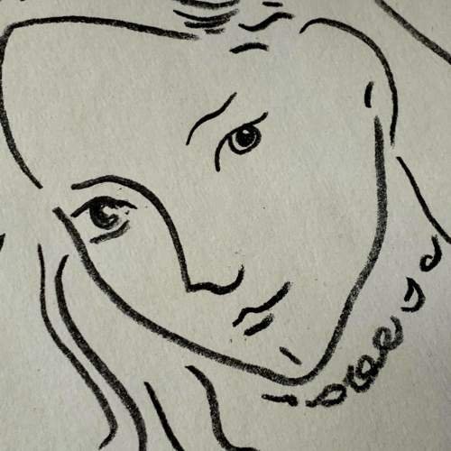 Henri Matisse Signed Print - Portrait De Marguerite image-4
