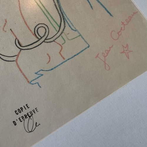 Jean Cocteau Signed Print - Amour image-5