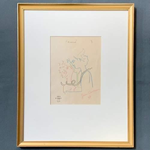 Jean Cocteau Signed Print - Amour image-1