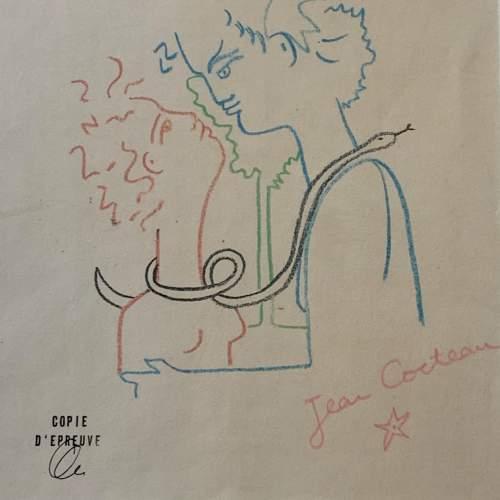 Jean Cocteau Signed Print - Amour image-2