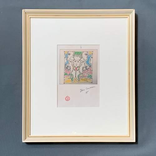 Jean Cocteau Signed Print - Coulews De L'Europe image-1