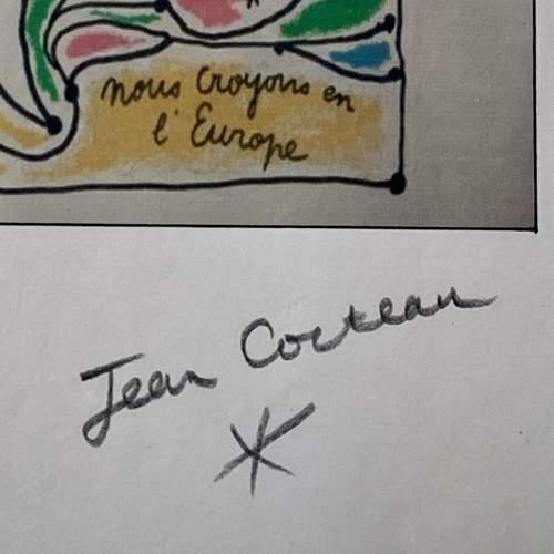Jean Cocteau Signed Print - Coulews De L'Europe image-5