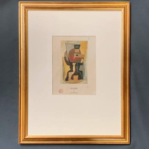 Pablo Picasso Print Entitled Still Life on a Pedestal Table image-1
