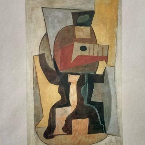 Pablo Picasso Print Entitled Still Life on a Pedestal Table image-2