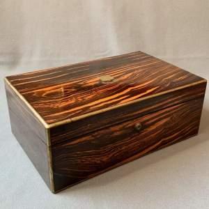 Early 19th Century Coromandel Writing Box