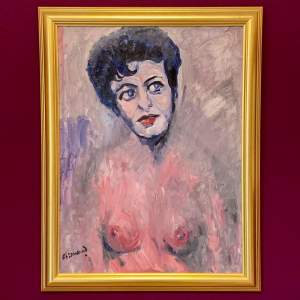 Oil on Board Painting of Pat Phoenix by James Isherwood