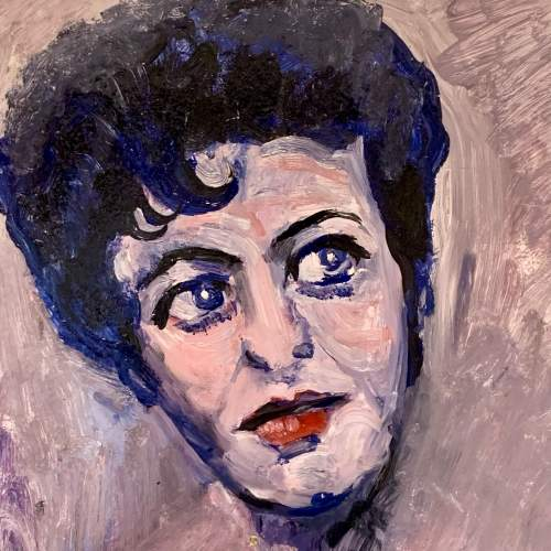 Oil on Board Painting of Pat Phoenix by James Isherwood image-2