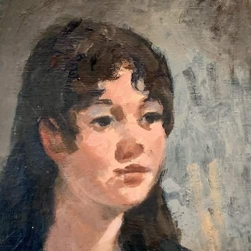 Oil on Board Portrait of a Girl by Gordon Radford image-2