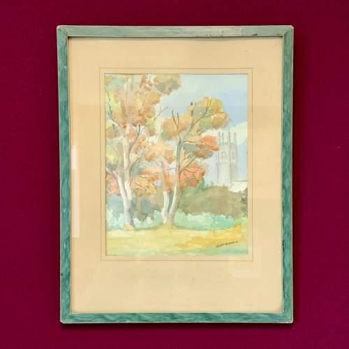 Original Jean Claude Beddard Watercolour Landscape Painting image-1
