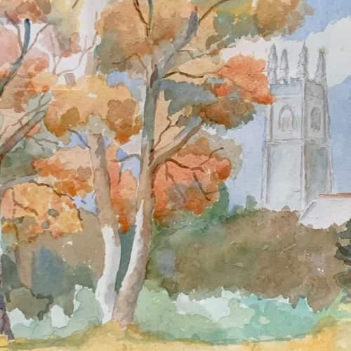 Original Jean Claude Beddard Watercolour Landscape Painting image-2
