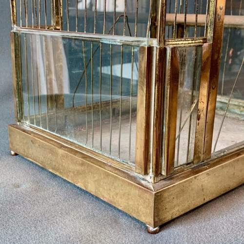 Early 20th Century Brass and Glass Birdcage image-2