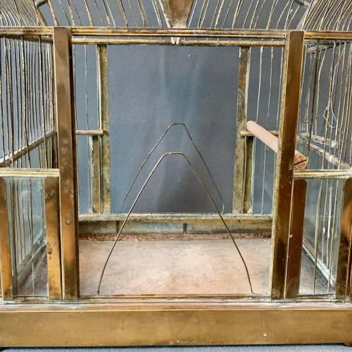 Early 20th Century Brass and Glass Birdcage image-3