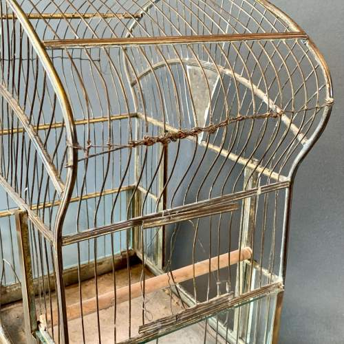 Early 20th Century Brass and Glass Birdcage image-4