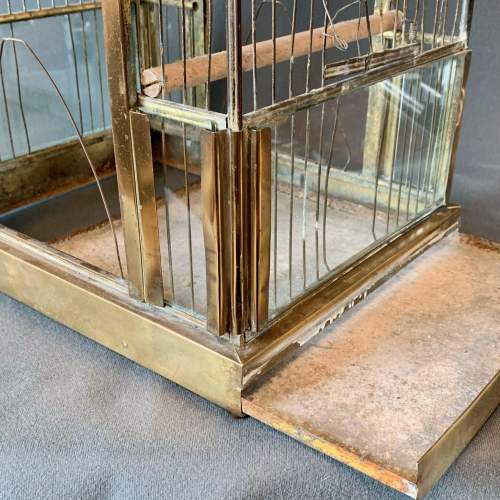 Early 20th Century Brass and Glass Birdcage image-6